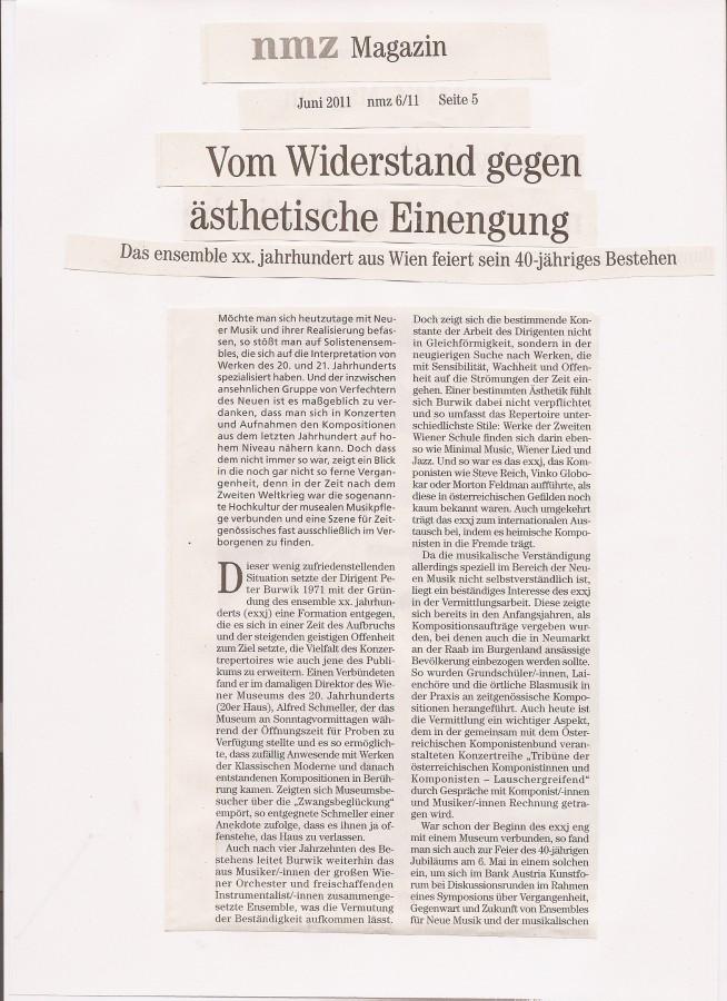Artikel nmz 2011/6 Seite 1
